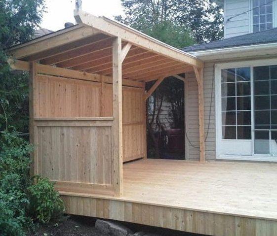 Side oak gazebo BBQ shelter