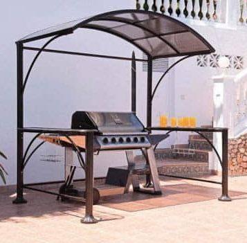 Modern simple BBQ gazebo
