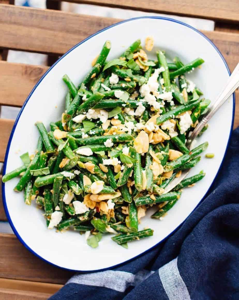 Minted green bean salad