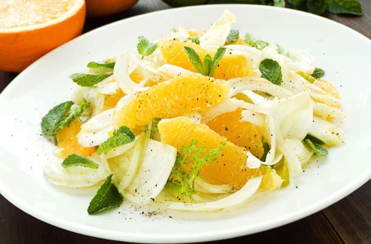 Fennel and orange salad with mint