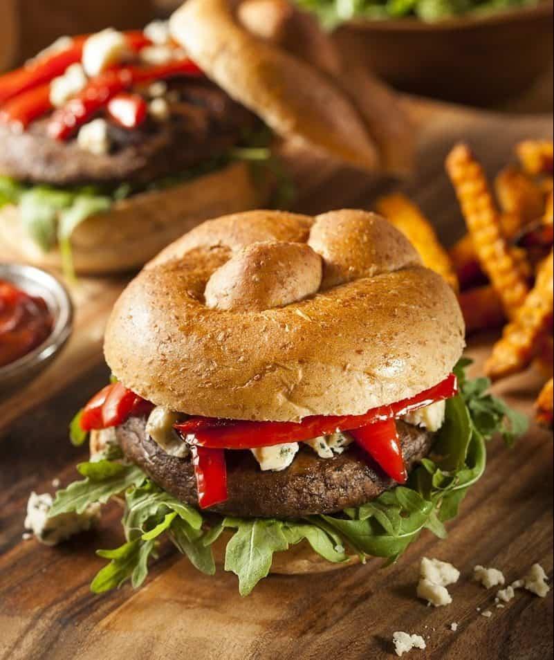 BBQ portobello mushroom burger