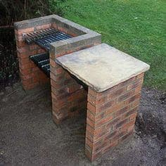DIY brick BBQ ideal for small gardens