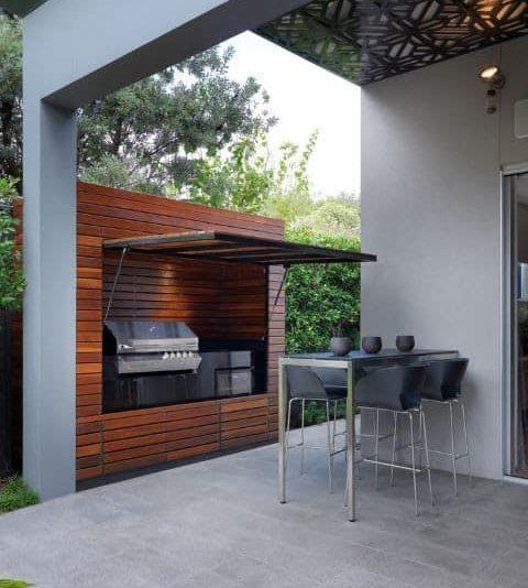 Discreet BBQ area for small garden