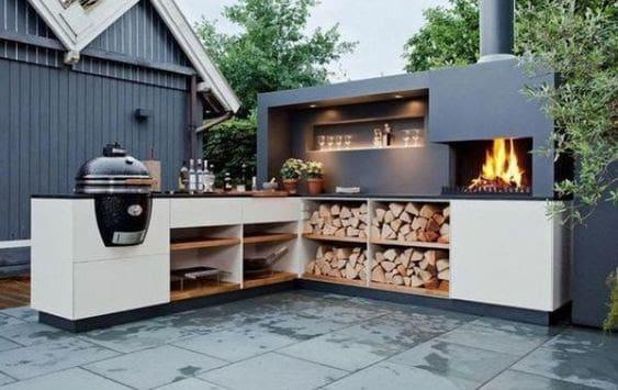 Appealing BBQ corner area