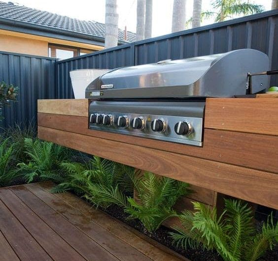 Built-in BBQ grill with a sleek, stylish design