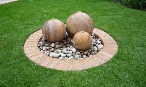 Stone and pebble garden centre
