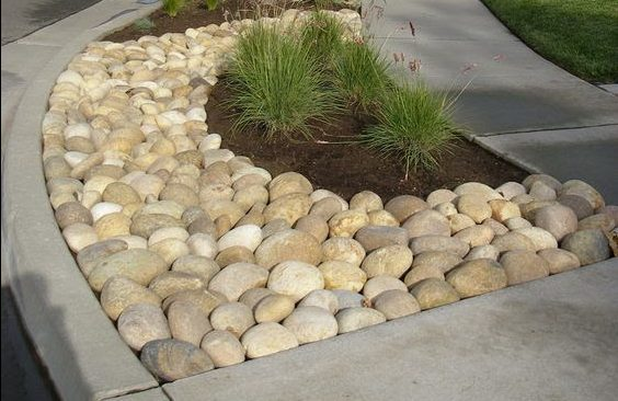 Curb pebble outdoor decoration