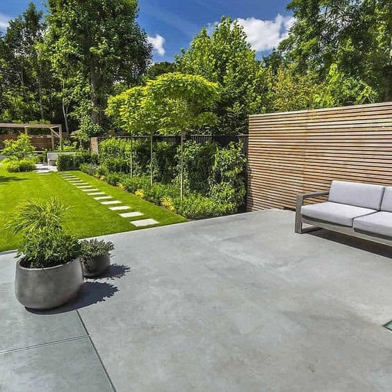 Concrete deck and stepping stones
