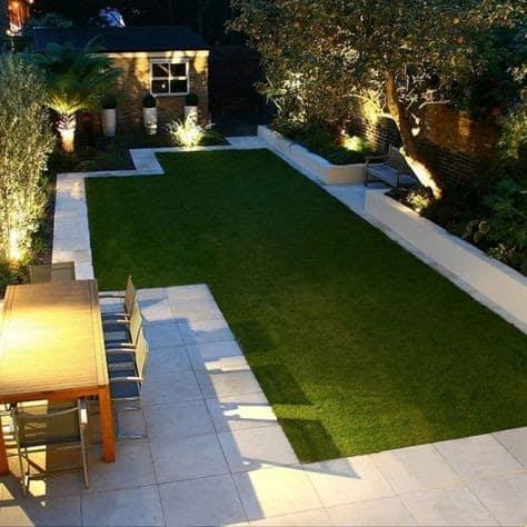 Artificial grass for a low-maintenance garden