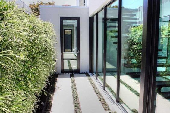 Side yard vertical garden