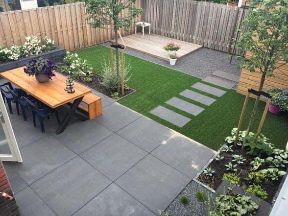 Small grey open garden