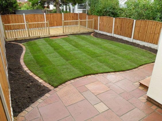 Sandstone paving and borders