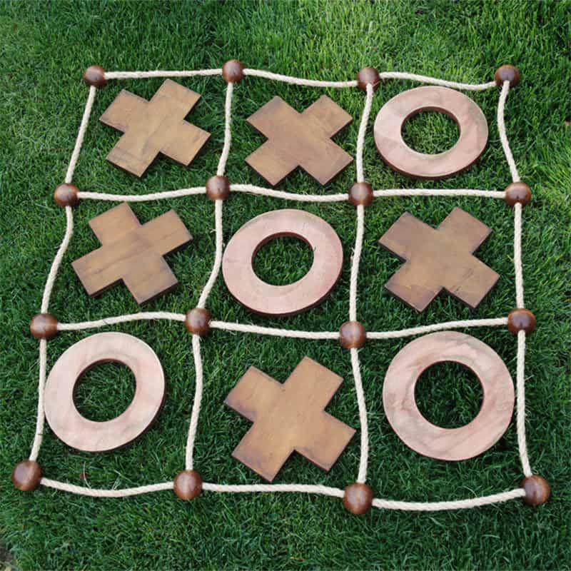 An enlarged version of an all-time classic, noughts and crosses