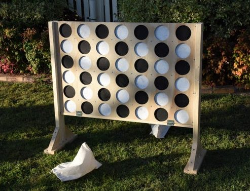 DIY giant connect four