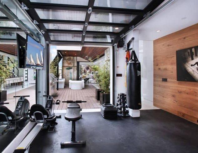 Mini home boxing gym setup