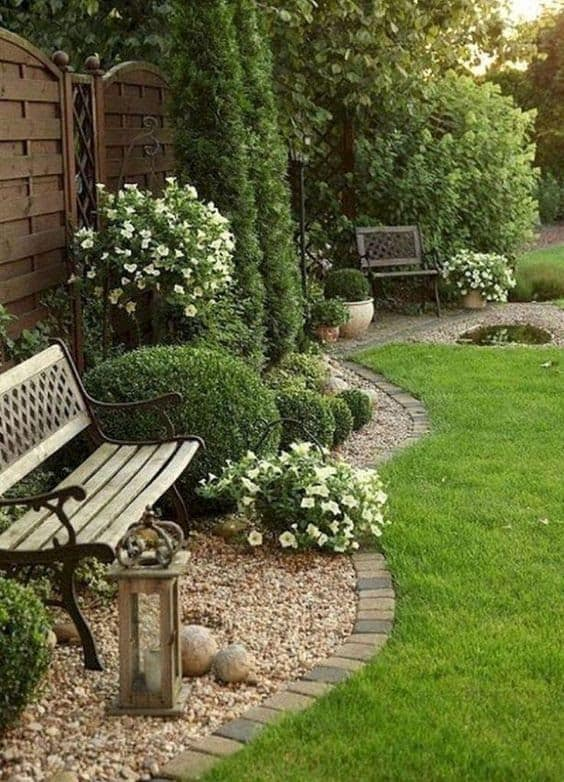 Classic garden benches to sit down and relax after a long day