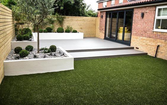 Small, low maintenance garden beds