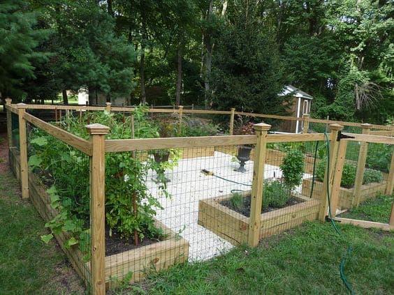 Enclosed herb garden