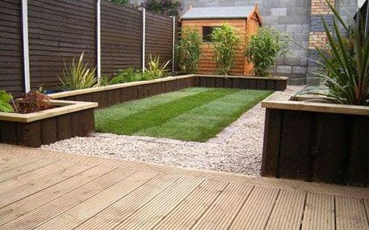 Garden beds and shed