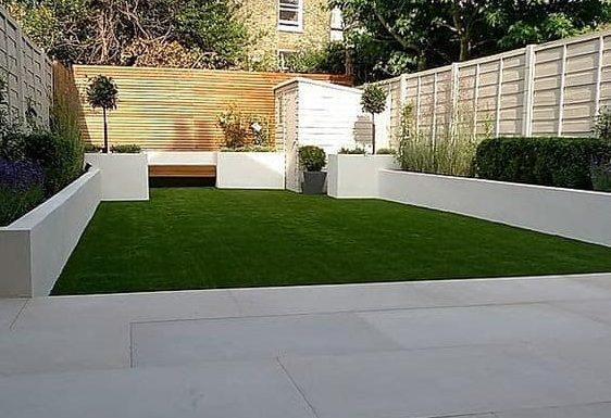 White garden battersea for a light, modern garden