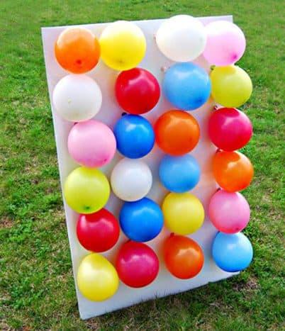 DIY balloon dart board