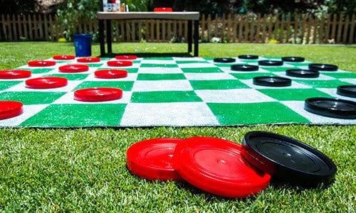 Giant backyard checkers