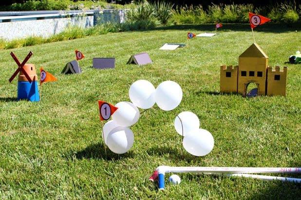 DIY backyard mini golf