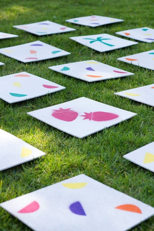 Giant lawn memory matching game