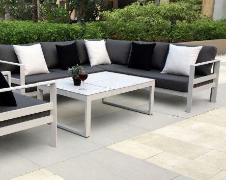 Aluminium furniture achieving a low maintenance garden set-up