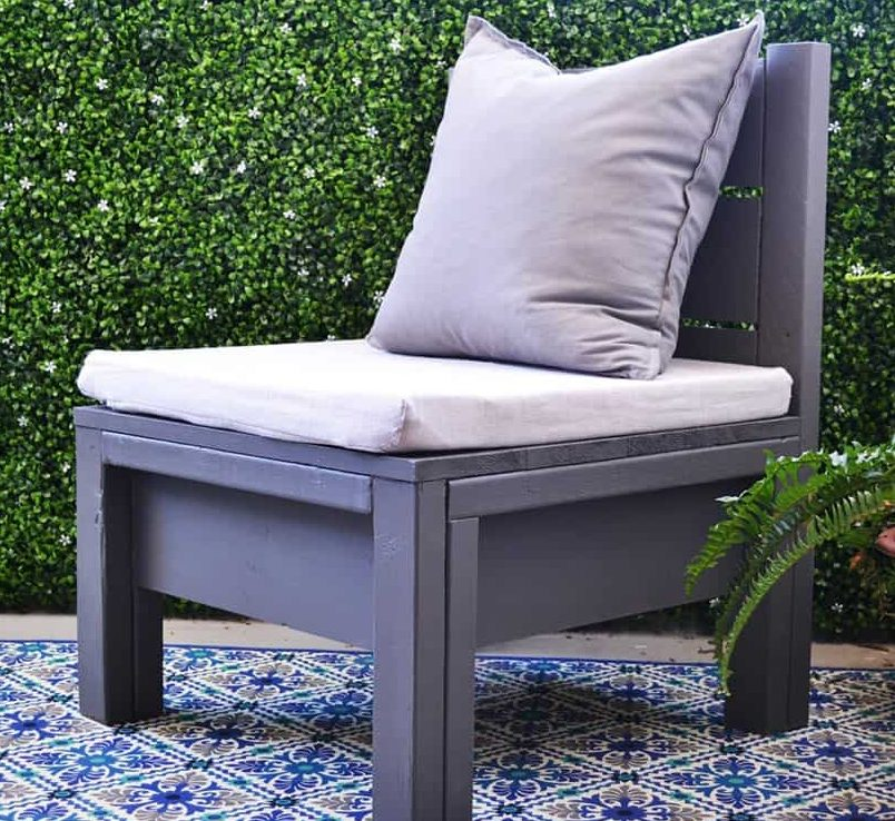 Funky style bottomed patio chair