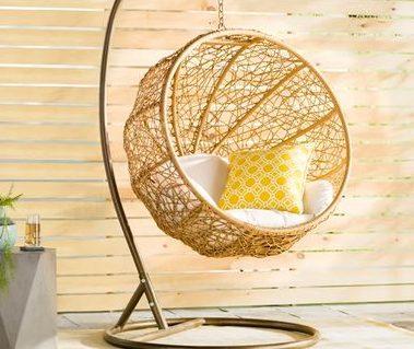 Summer splendour basket swing chair