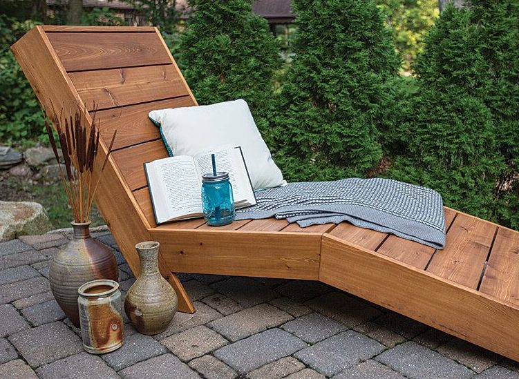 Tahitian style reclining chaise