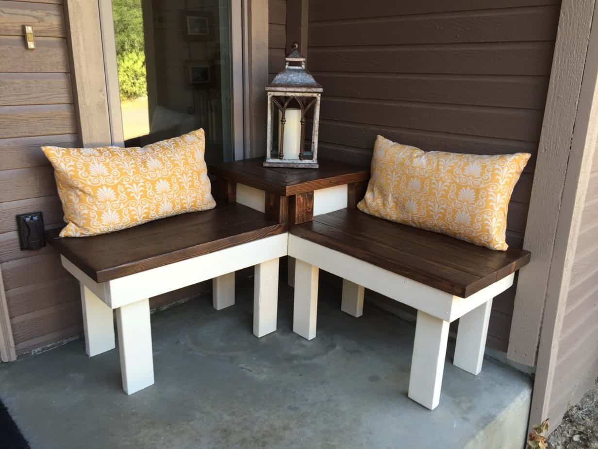 DIY corner bench with table