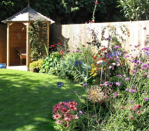 Small gazebo with colourful flowers