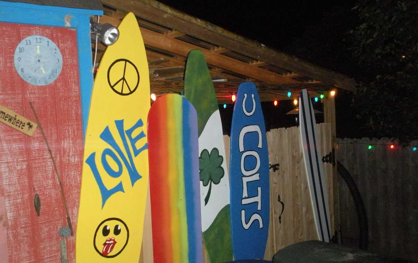 Surfboards garden signs
