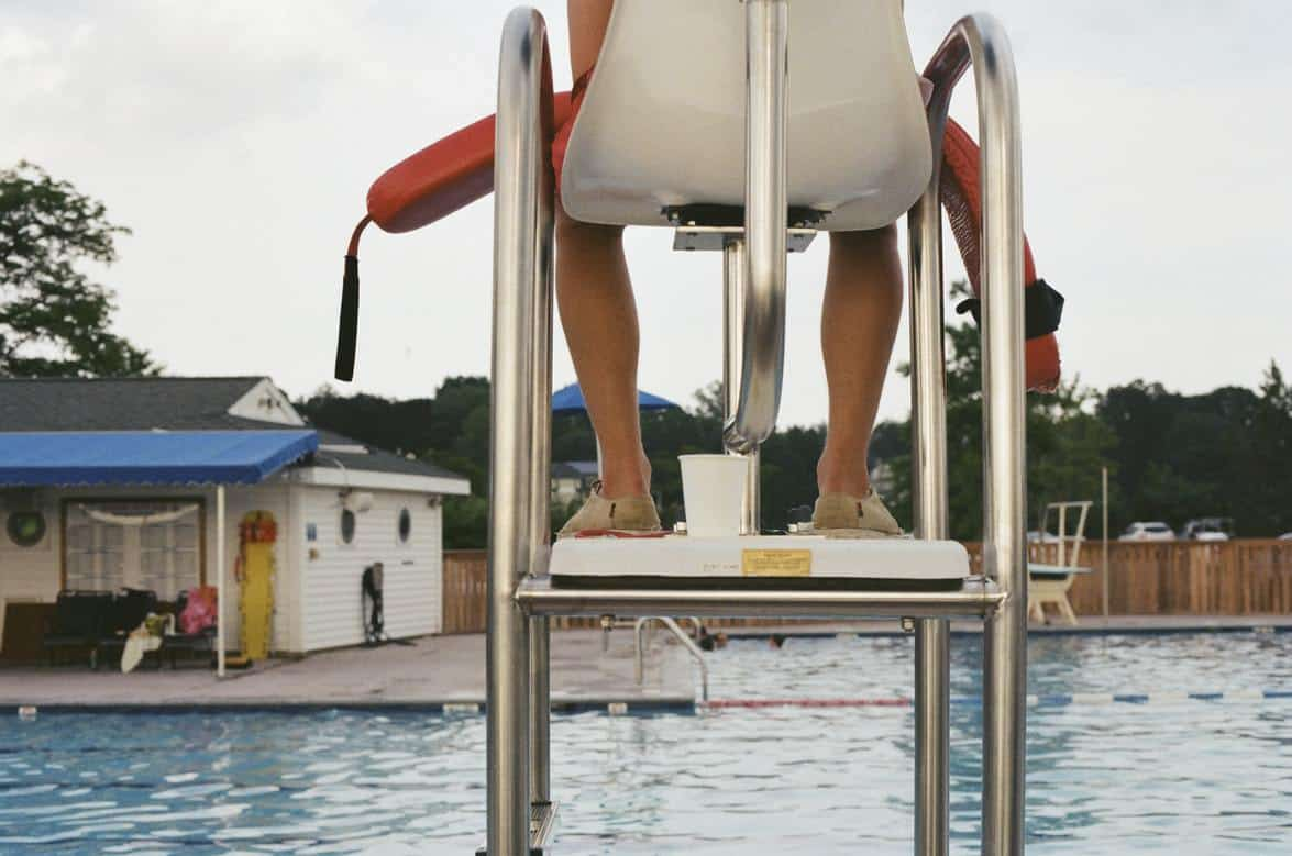 Garden pool lifeguard tower