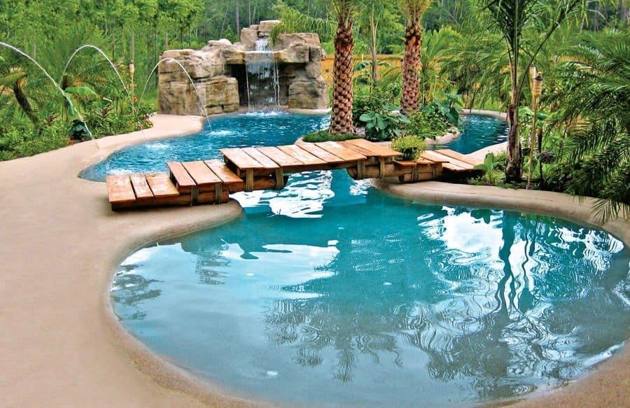 Beach entry pool concept