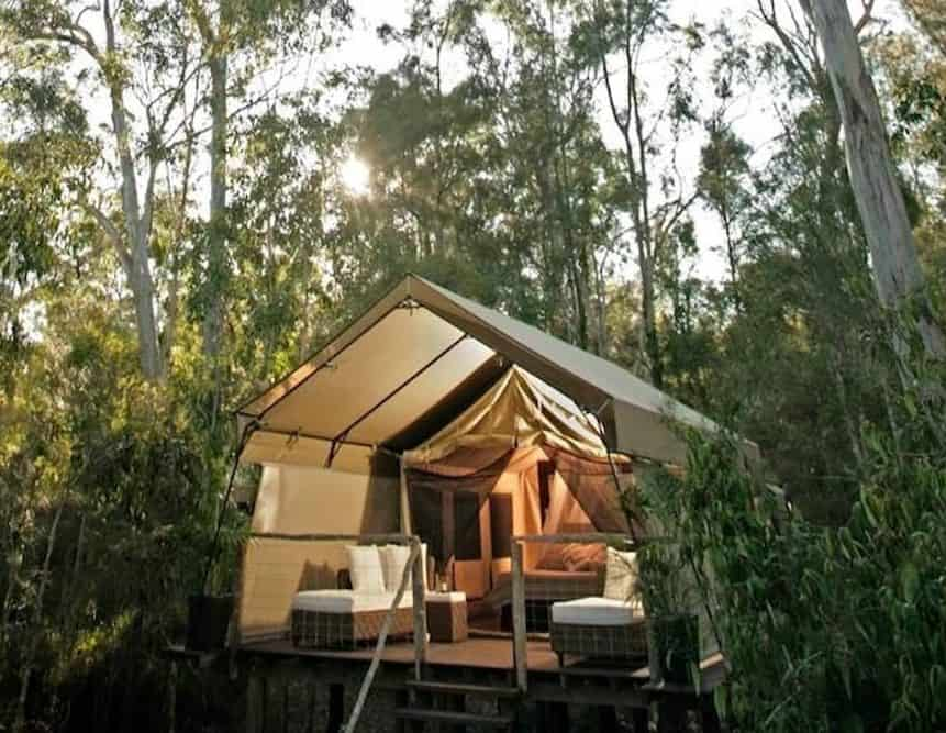 Glamping style treehouse getaway