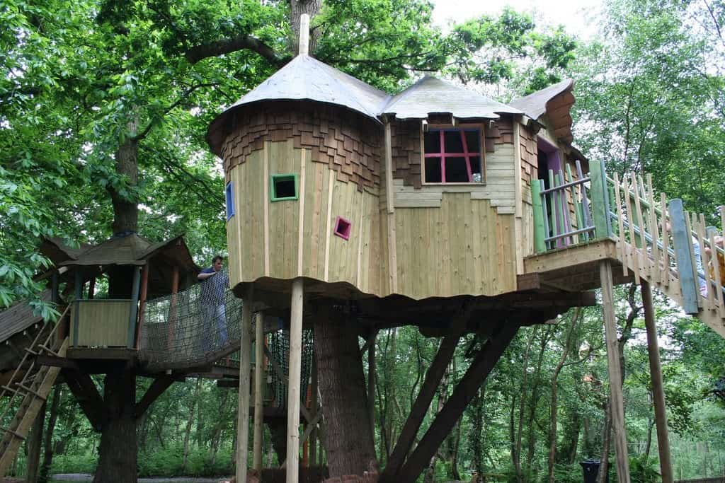 Ancient castle inspired treehouse