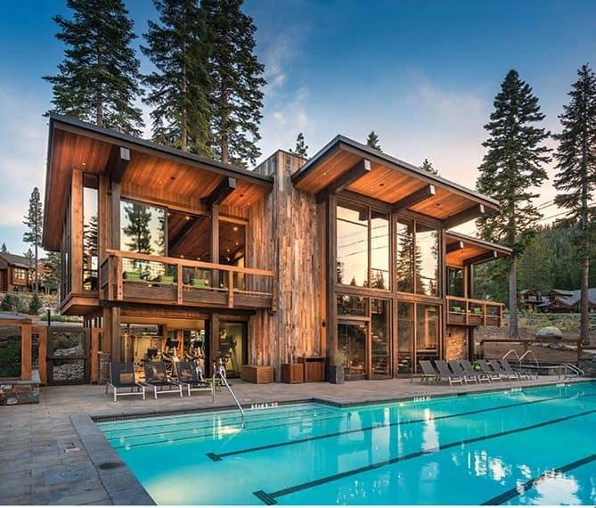 Pool adjacent treehouse