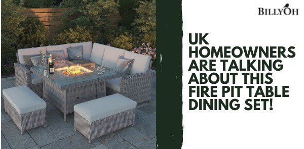 UK Homeowners Are Talking About This Firepit Table Dining Set!