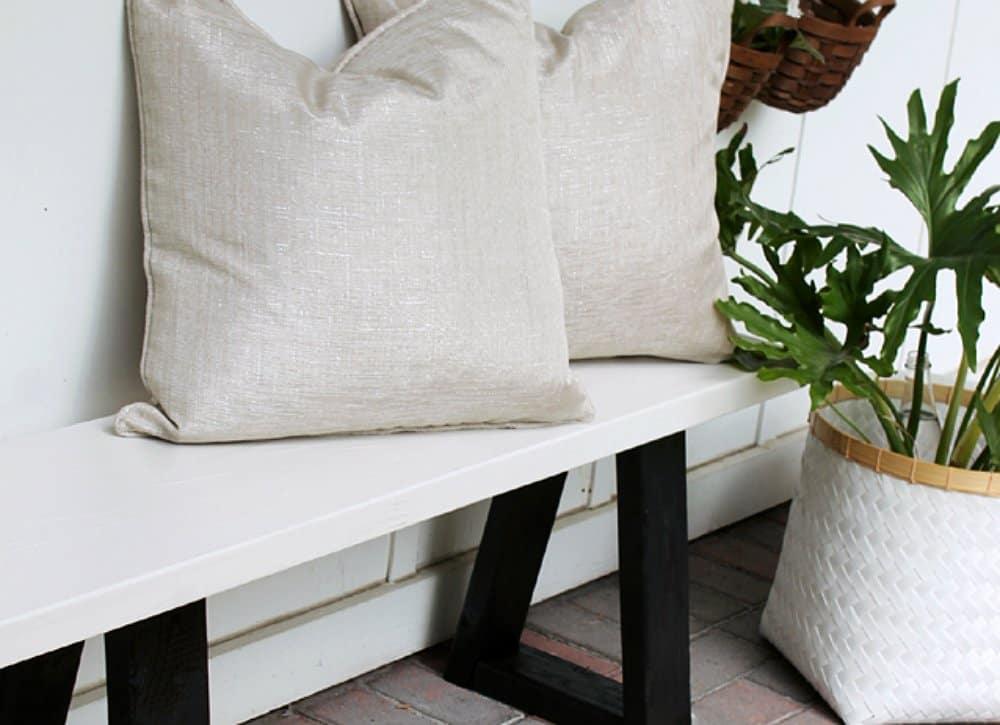 DIY knock-off bench design idea