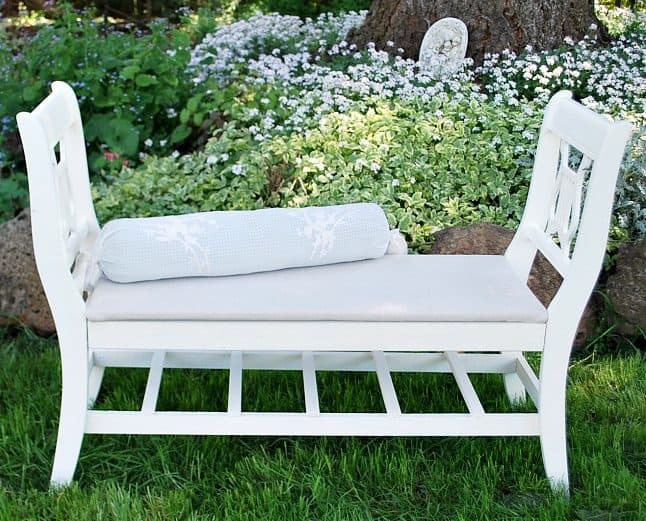 French-styled bench from old chairs