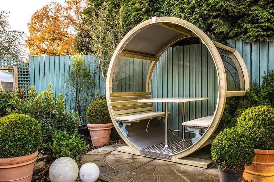 Cottage garden wheel bench