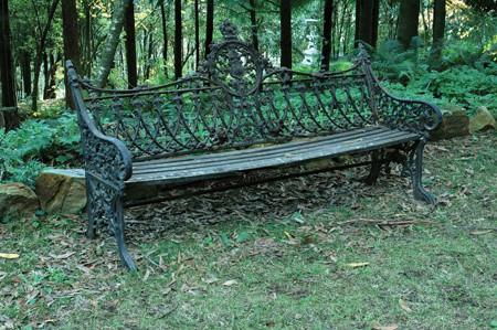 Victorian garden bench